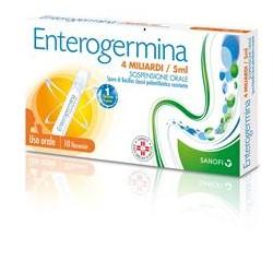 Sanofi Enterogermina 10 Flaconcini Alterazione Flora Batterica 4 Miliardi/5 ml