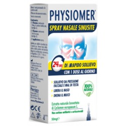 Physiomer Spray Nasale Sinusite 2 Pezzi 1 Flacone Da 50 Mg Di Estratto Di Ciclamino Naturale Liofilizzato + 1 Fiale Da 5 Ml Di