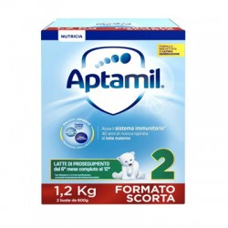 Aptamil 2 Latte di proseguimento dal 6 mese al 12 Formato Scorta 1200 g