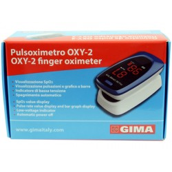 Gima Oxy-2 Pulsossimetro Da Dito Adulti e Bambini 1 Pezzo