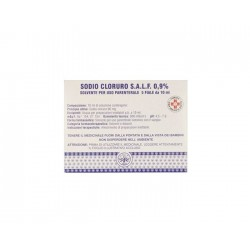 SODIO CLORURO (SALF) 5 fiale 10 ml 0,9%