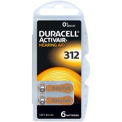 Duracell Easy Tab 312 Marrone Batteria Per Apparecchio Acustico