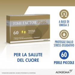 Alfasigma Fish Factor Plus 60 Perle Piccole Integratore per Colesterolo