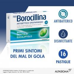 Alfasigma Neoborocillina Antisettico Orofaringeo 16 Pastiglie Mentolo Eucaliptolo