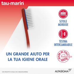 Alfasigma Taumarin Magnum Spazzolino Morbido Con Testina Intercambiabile