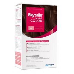 Bioscalin Nutricolor Plus 4 Castano Crema Colorante 40 Ml + Rivelatore Crema 60 Ml + Shampoo 12 Ml + Trattamento Finale Balsamo