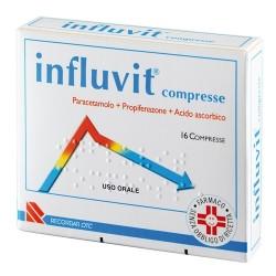 Recordati Influvit 16 Compresse per Febbre 150 Mg + 300 Mg + 150 Mg