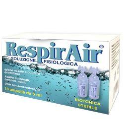 Pharmaday Respirair Soluzione Fisiologica per Fumigazioni/aerosol 18 Ampolle