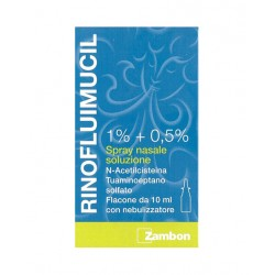 Zambon Rinofluimucil Spray Nasale Flaconcino 10 ml 1% + 0,5%