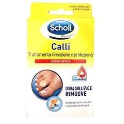 Dr. Scholl's Cerotto Callifugo Trattamento Rimozione/protezione Calli 4 Cerotti Idrorepellenti + 4 Dischetti Callifughi