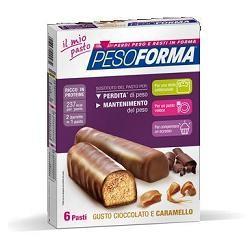 Nutrition & Sante' Pesoforma Barretta Cioccolato Caramello 12 Pezzi