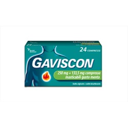 Reckitt Gaviscon 24 Compresse Masticabili Menta 250 mg + 133,5 mg