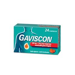 Reckitt Benckiser H. Gaviscon 24 Compresse Masticabili 250 Mg + 133,5 Mg Fragola