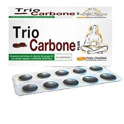 Pool Pharma Triocarbone Plus 40 Compresse Gonfiore Intestinale