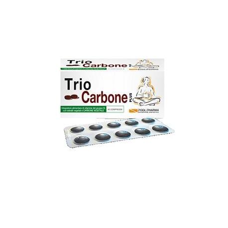 Pool Pharma Triocarbone Plus 40 Compresse Gonfiore Intestinale