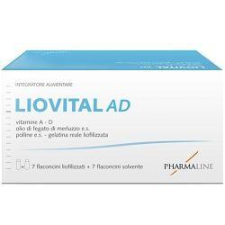 Pharma Line Liovital Adulti 7 Flaconcini Liofilizzato + 7 Flaconcini Solvente