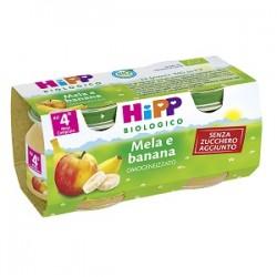 Hipp Biologico Mela Banana Frutta Grattugiata 4 x 100 g