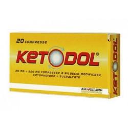 Alfasigma Ketodol Antinfiammatorio 20 Compresse 25 mg + 200 mg Rilascio Modificato
