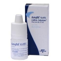 Oftagest Ketoftil Collirio 10 Ml 0,05%