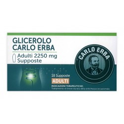 Carlo Erba Glicerolo 18 Supposte Stitichezza Adulti 2250 mg