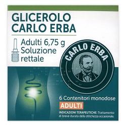 Carlo Erba Glicerolo Adulti 6 Microclismi 6,75 g