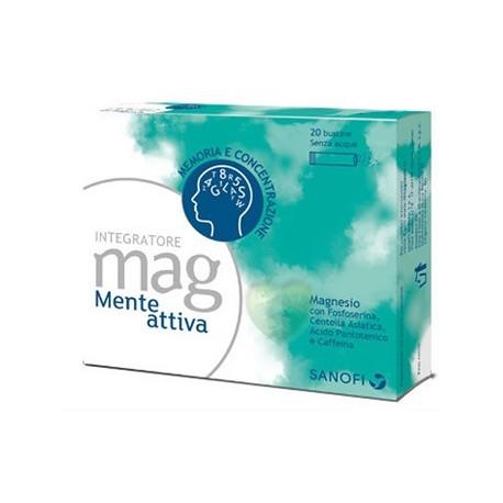 Sanofi Mag Mente Attiva 20 Bustine Integratore per Memoria e Concentrazione