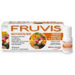Pool Pharma Fruvis Multi-Vegetalfruit Pronta Energia e Vitalita' 12 Flaconcini 10 ml
