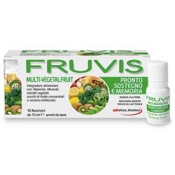 Pool Pharma Fruvis Multi-Vegetalfruit Pronto Sostegno e Memoria 12 Flaconcini 10 ml
