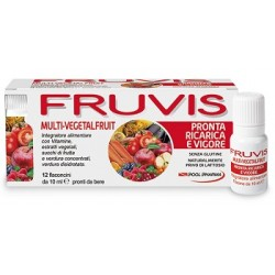 Pool Pharma Fruvis Multi-Vegetalfruit Pronta Ricarica e Vigore 12 Flaconcini 10 ml