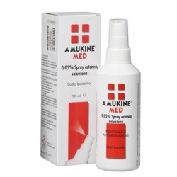 Angelini Amukine Med Soluzione Dermatologica 200 ml 0,05%