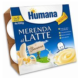 Humana Merenda Banana 4 X 100 G