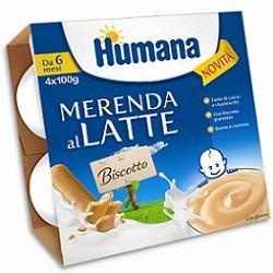 Humana Merenda Gusto Biscotto 4 X 100 G