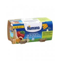 HUMANA OMOGENEIZZATO MELA/BANANA BIO 2 VASETTI 100 G