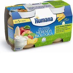 Humana Merenda Mela/banana/yogurt/pesca Bio 240 g