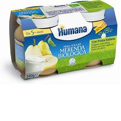 Humana Merenda Pera Yogurt Bio 240 G
