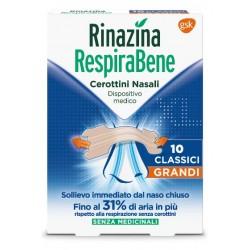 Glaxosmithkline C. Healt. Rinazina Respirabene 10 Cerottini NasaliI Classici Grandi