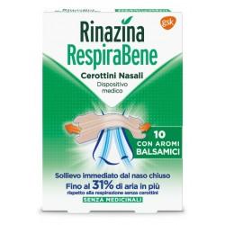 Glaxosmithkline C. Healt. Rinazina Respirabene 10 Cerottini Nasali con Aromi Balsamici