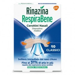 Glaxosmithkline C.Healt. Rinazina Respirabene 10 Cerottini Nasali Classici