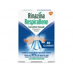 Glaxosmithkline C.Healt. Rinazina Respirabene 30 Cerottini Nasali Classici