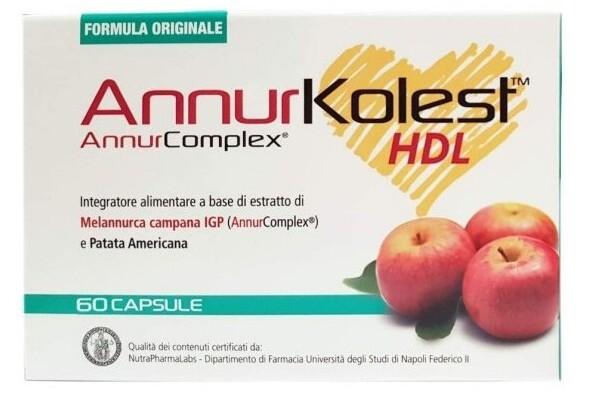 Annurkolest HDL 60 Capsule Integratore per il colesterolo