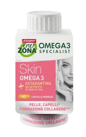 Enerzona Omega3 RX Skin Integratore di collagene per pelle e capelli 42 capsule